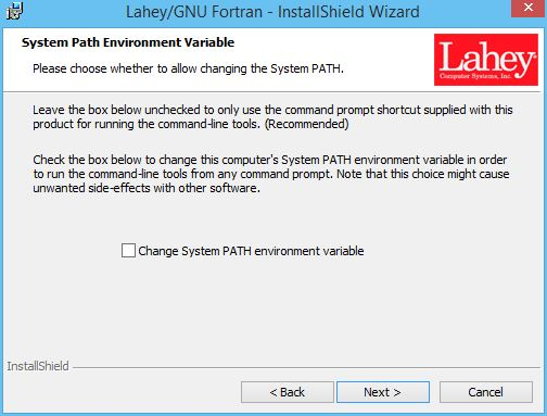 Installing Without Visual Studio Fortran Support
